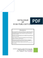 Catalogue EIGA Publications