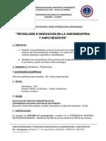 Invitacion Curso Internacional Agronegocios y Agroindustria