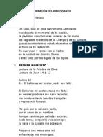 ADORACIÓN DEL JUEVES SANTO