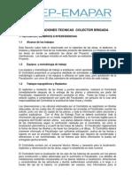 Especificaciones Tecnicas Colector Brigada