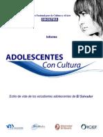 Estudio Adol El Salvador Concultura2008