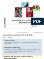 Chap001 Managerial Accounting and the Business Environment