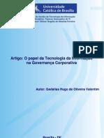 O papel da Tecnologia da Informação na Governança Corporativa