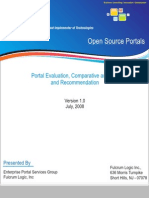 Comparitive Evaluation of Portals - Liferay, JBoss, Apache Jetspeed