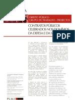 Contratos Publicos Celebrados Nos Dominios Da Defesa e Da Seguranca