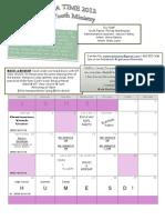 Grace Church Summer 2012 Calendar
