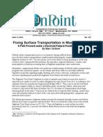 Marc Scribner - Fixing Surface Transportation in Massachusetts