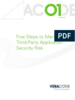 Five Steps to Managing Third-Party Application Security Risk