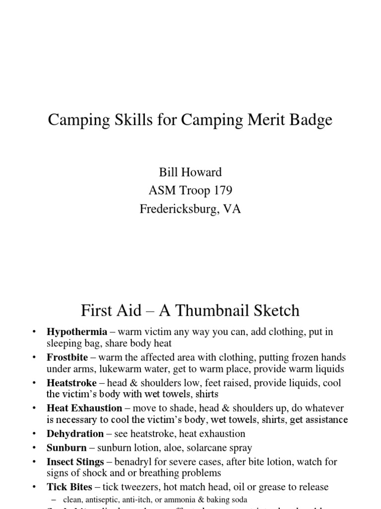 Camping Merit Badge Tent – Camping Merit Badge Worksheet Answers
