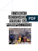 Student Movement - Issues and Perspectives