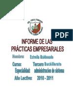 Caratula de Las Practicas Empresariale