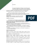 TALLER DE POESÍA 2012 PROGRAMA