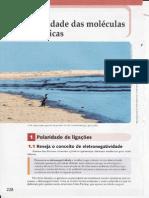 CAP.10-POLARIDADE DAS MOLÉCULAS ORGÂNICAS