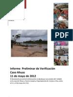Informe publico sobre el caso Ahuas , Mosquitia hondureña , Cofadeh  Junio 2012