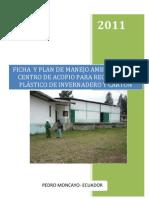 (FICHA TÉCNICA DEL PROYECTO CENTRO DE ACOPIO 2)