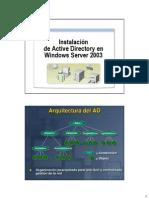 CLASE3 - Instalacion de Active Directory en Windows Server 2003(ALUMNO)(2P)