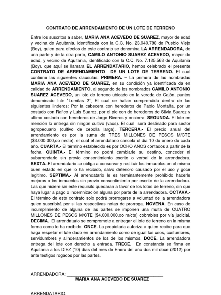 100+ ideas Plantilla De Contrato De Arrendamiento on ...