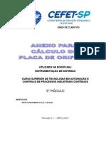 Anexo para Cálculo Placa de Orifício