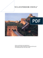 Politica Exterior China