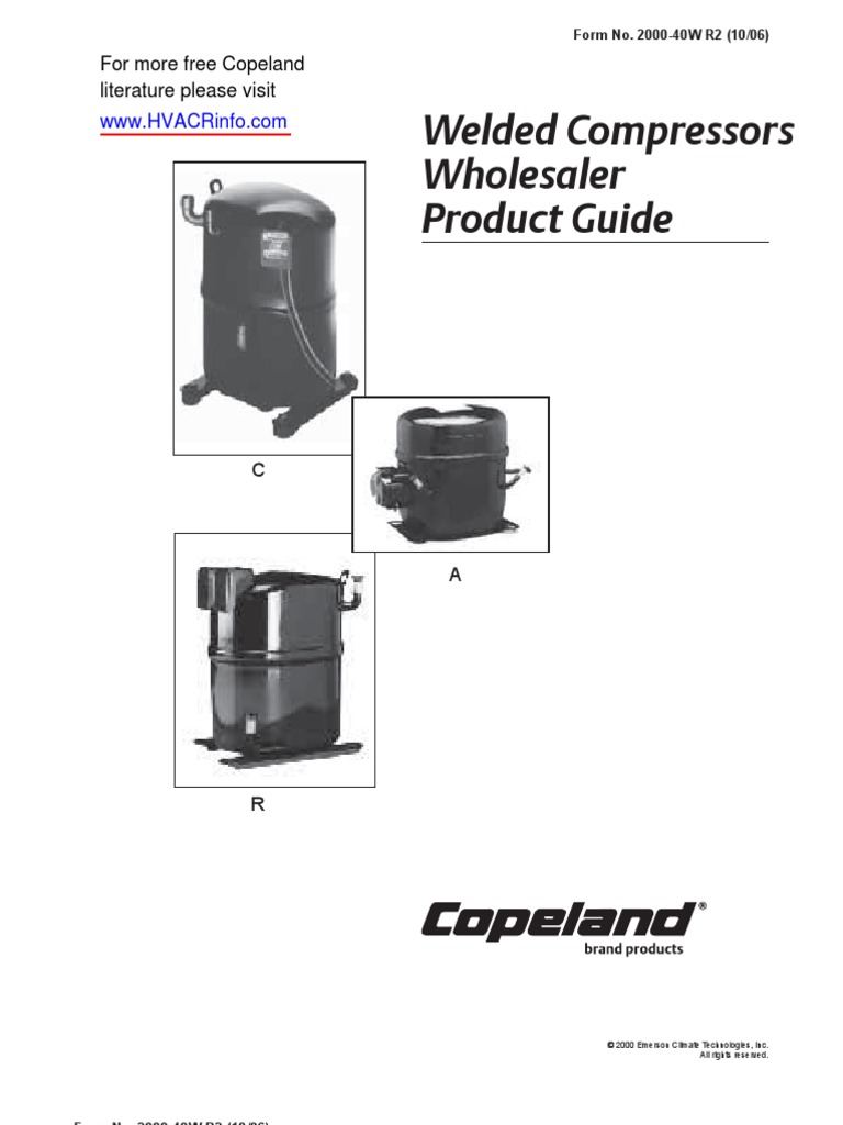 copeland compressors info cross reference document