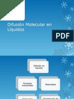 Difusión Molecular en Líquidos