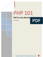 PHP 101 - PHP for the Absolute Beginners