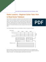 Beginner Guitar Tabs - Easy Guitar Tablature