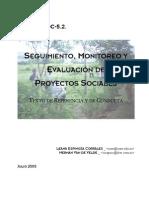Seguimiento, Monitoreo y Evaluacion de Proyectos Sociales