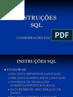 Instruções SQL