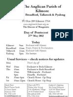 Pew Sheet 27 May 2012