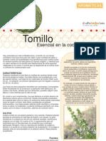 Jardineria - Fichas de Plantas Aromaticas - Tomillo
