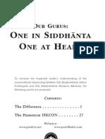 Our Gurus One in Siddhanta