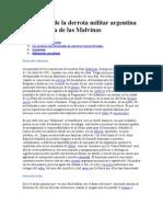 Las Causas de La Derrota Militar Argentina en La Guerra de Las Malvinas