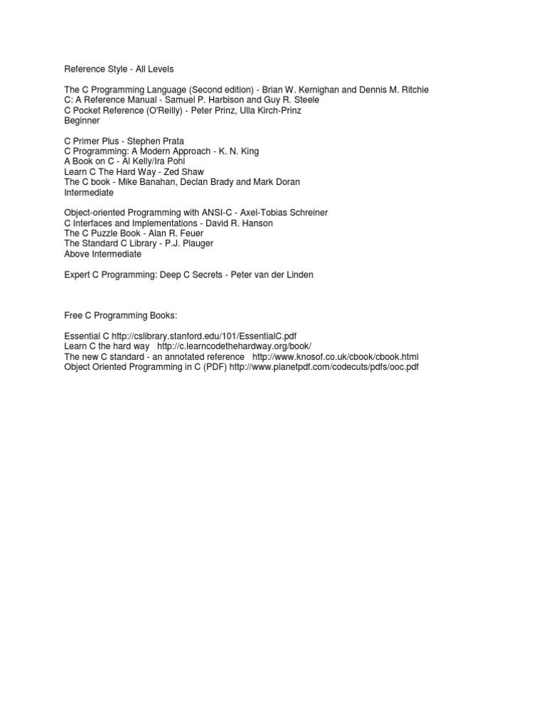 c by dennis ritchie free  pdf
