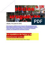 Noticias Uruguayas sábado 9 de junio del 2012