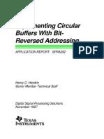 Circular Buffer With Bit Reverse Addressing
