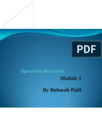 Introduction to Opreation Research Mnanagement MBA PPT