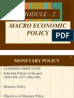 Macro Economic Policy MBA PPT