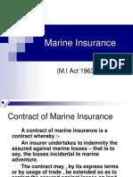 Marine Insurance MBA PPT
