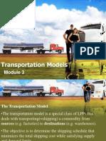 Transportation Models MBA PPT