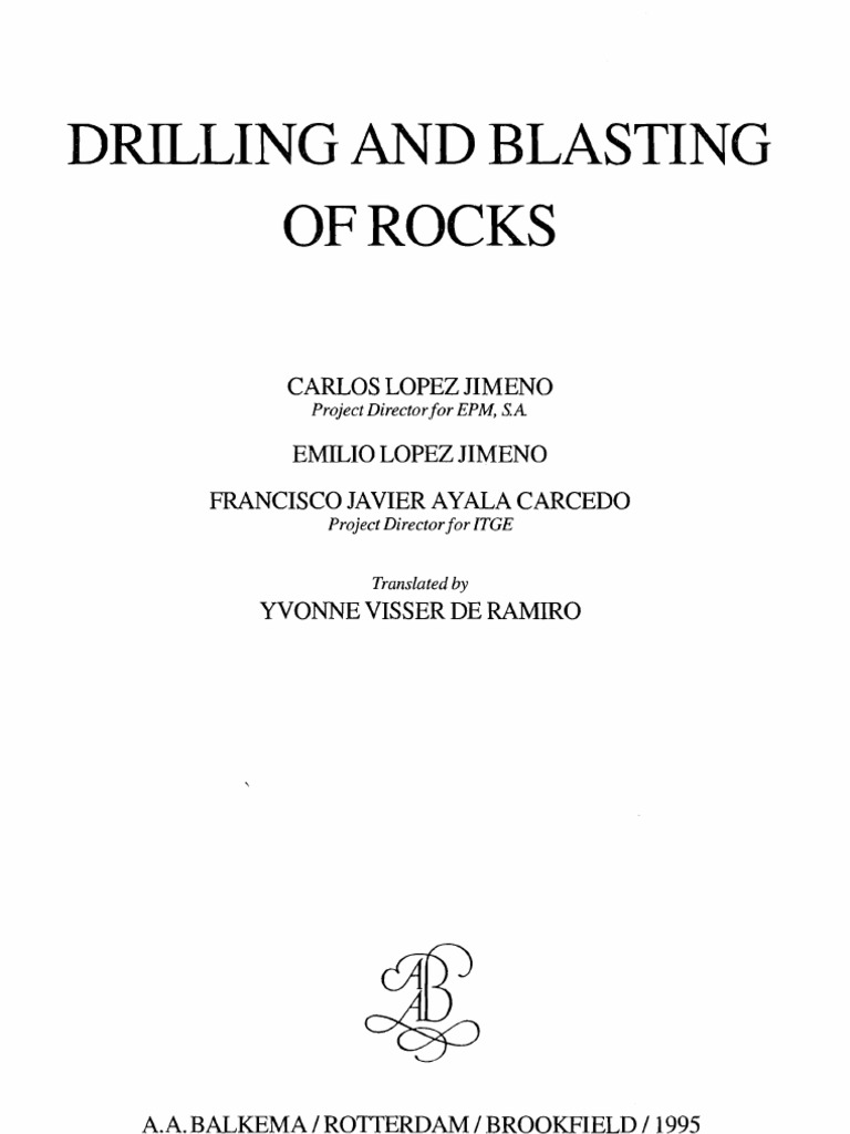 Drilling and blasting of rocks hardness rock geology fandeluxe Choice Image
