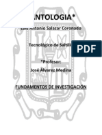 ANTOLOGIA de Investigacion