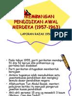 an Pendidikan Awal Merdeka_laporan Razak