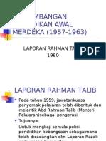 an Pendidikan Awal Merdeka _laporan Rahman Talib