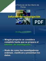 Clase 04 - El informe de investigación