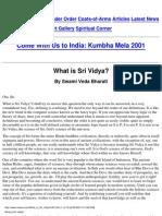 What is Sri Vidya (Meaus.com)