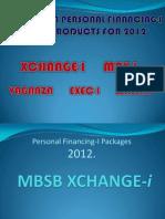 2012 Mbsb Product Briefing