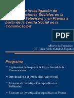 Técnicas de investigación de Representaciones Sociales en la Publicidad Televisiva y en Prensa a partir de la Teoría Social de la Comunicación