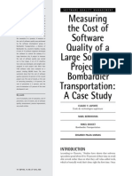 Cost of Software Quality of a Large Software Project