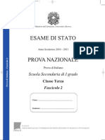 Invalsi Italiano 2010-2011 Terza